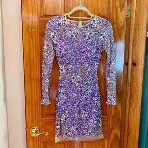 Jovani Purple beaded dress